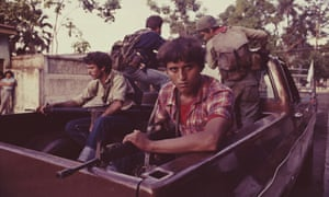 Guerrilla fighters of the FMLN