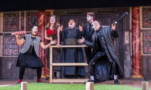 Golda Rosheuvel (Mercutio), Bushell, Harish Patel (Friar Lawrence), Hogg and Ricky Champ (Tybalt).
