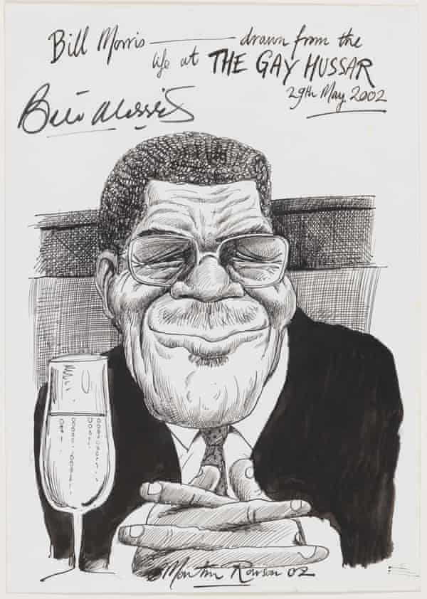 Bill Morris by Martin Rowson