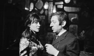 Anna Karina and Serge Gainsbourg before the recording of the television show Entrez dans la Confidence in Paris on 6 March 1968