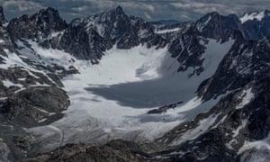 Mammoth Glacier, Wind River Range in Wyoming.