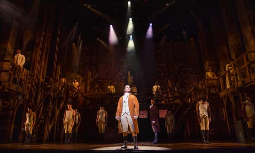 Jason Arrow as Hamilton at the Sydney Lyric.