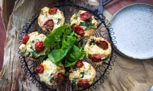Mark Olive's Goats Cheese Savoury Muffin with warrigal greens