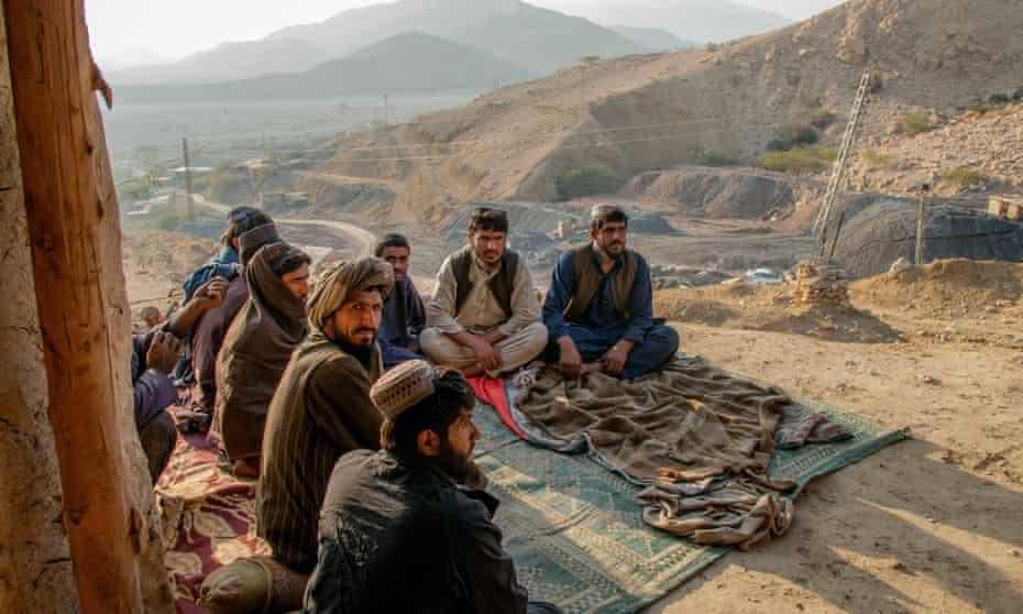Miners in Mach, Balochistan.