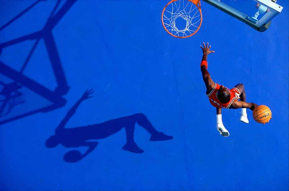 'I asked for 15 dunks. He said he'd give us three' … Michael Jordan casts his shadow.