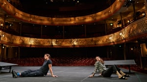 Claire Foy and Matt Smith rehearse Lungs at the Old Vic in London.