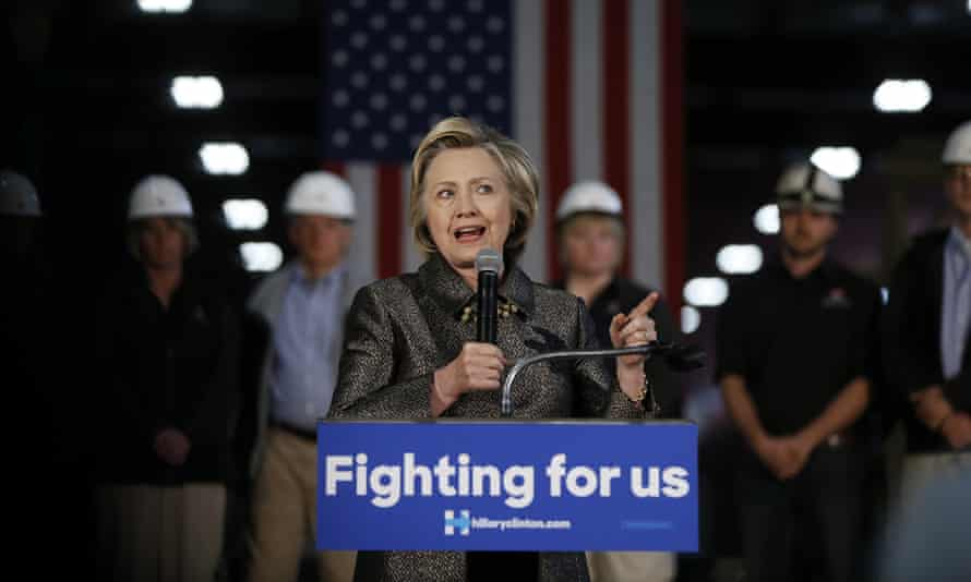 Hillary ClintonDemocratic presidential candidate Hillary Clinton speaks during a campaign stop, Tuesday, April 26, 2016, at Munster Steel in Hammond, Ind. (AP Photo/Matt Rourke)