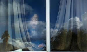 Scotty Byrket at a window.