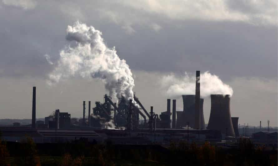 British Steel steelworks in Scunthorpe