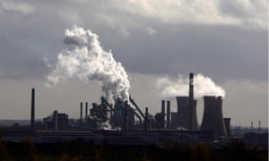 The British Steel steelworks in Scunthorpe, north-east Lincolnshire.