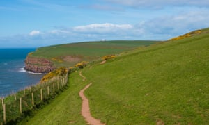 """""""The cliff face and coast to coast path at St Bees head and Fleswick Bay, Cumbria."""""""