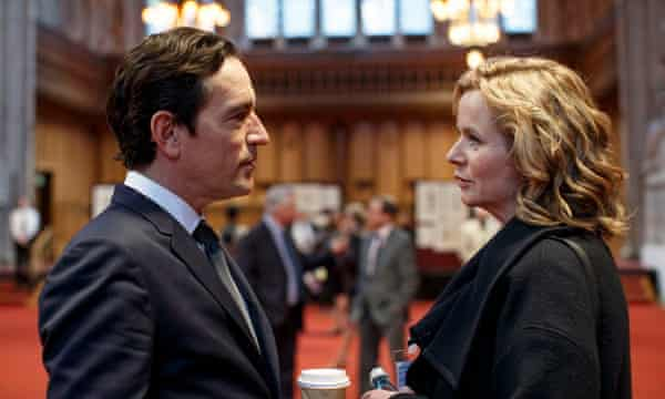 Ben Chaplin and Emily Watson in the 2017 BBC adaptation of Louise Doughty's novel Apple Tree Yard.