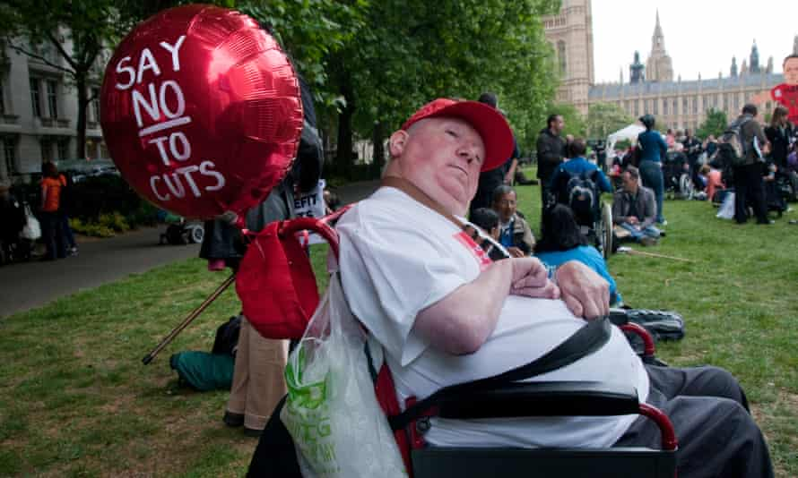 Protest by disabled people