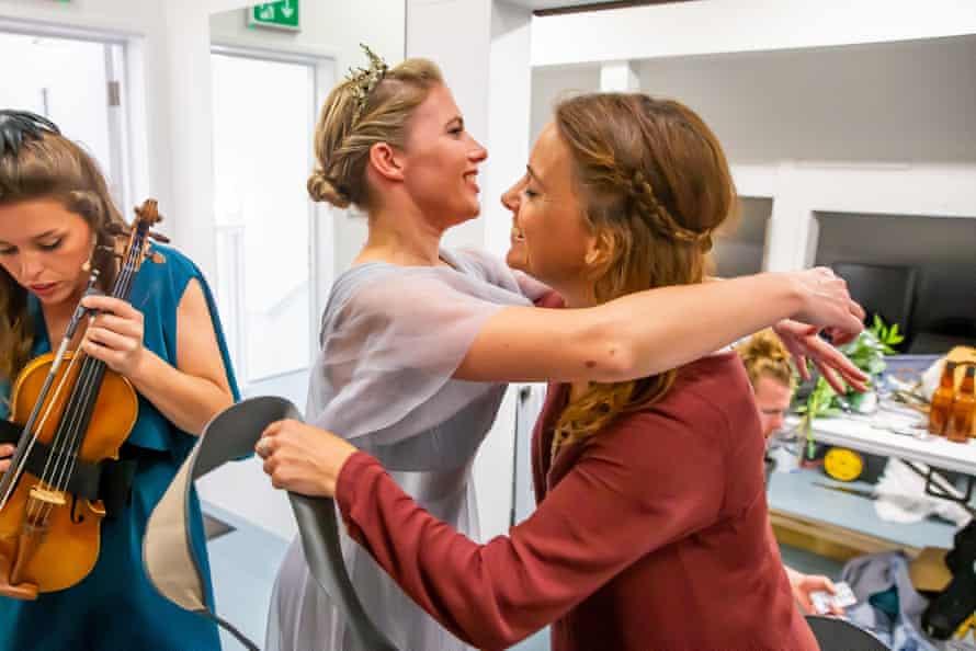 Actors embrace