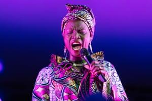 Beninese singer-songwriter Angélique Kidjo performs songs from Talking Heads' album Remain In Light.