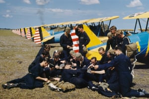 RAF pilots in training with the Embry-Riddle Company at Carlstrom Field near Arcadia in Florida in 1941