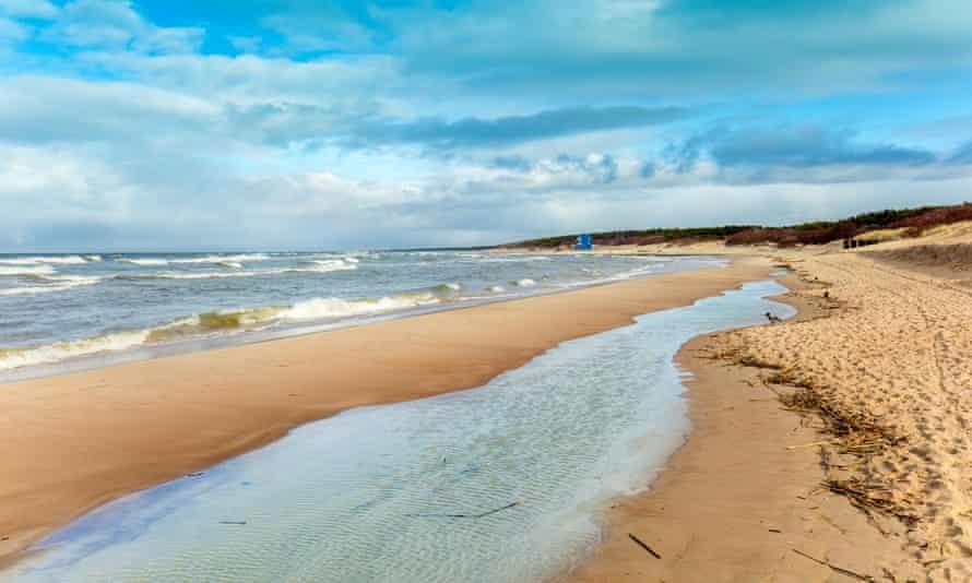 Baltic sea coast in autumn