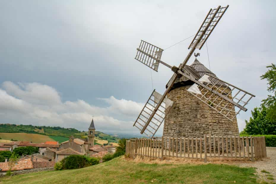Windmill typical on the hill of Lautrec, France