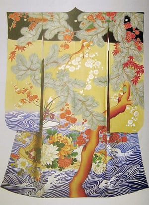 Kimono for a young woman, 1905–20, probably from Kyoto.