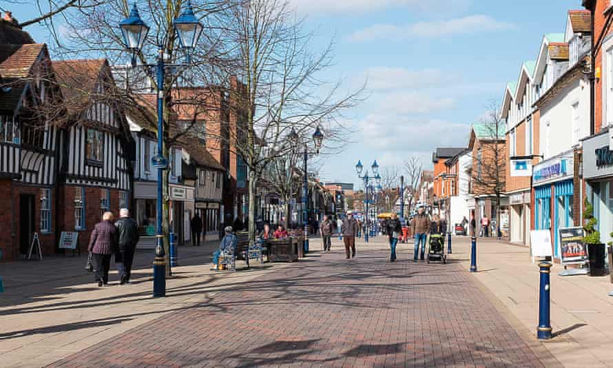 Photograph of Solihull shopping street