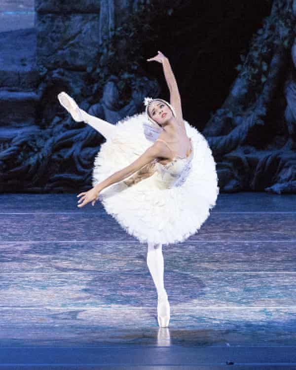 Misty Copeland performs in Swan Lake for the American Ballet Theatre.