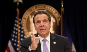 'I'm not a newcomer. But I am a progressive. And I deliver progressive results,' Andrew Cuomo told reporters.