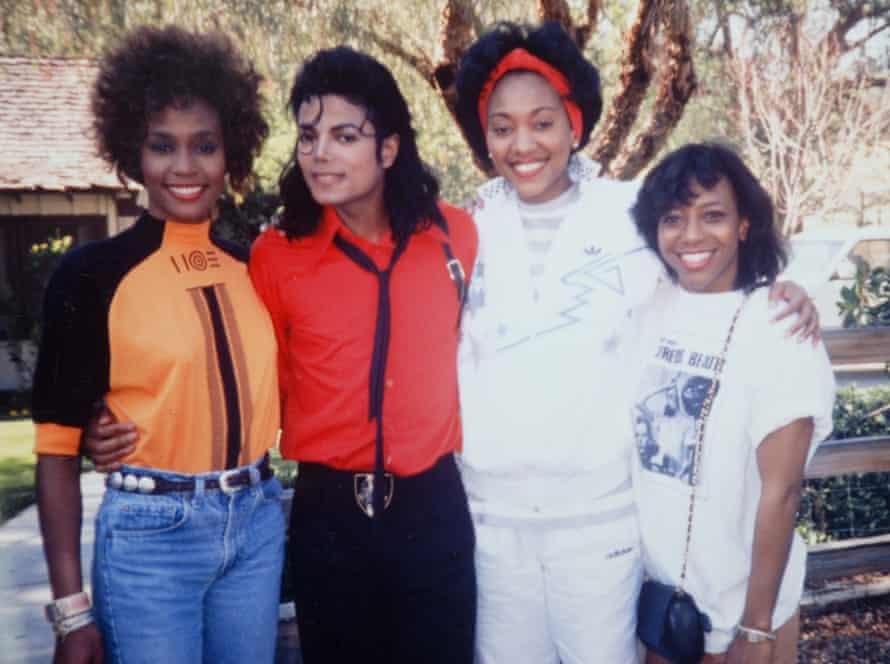 Robyn Crawford (second from right) with Whitney Houston, Michael Jackson and a friend
