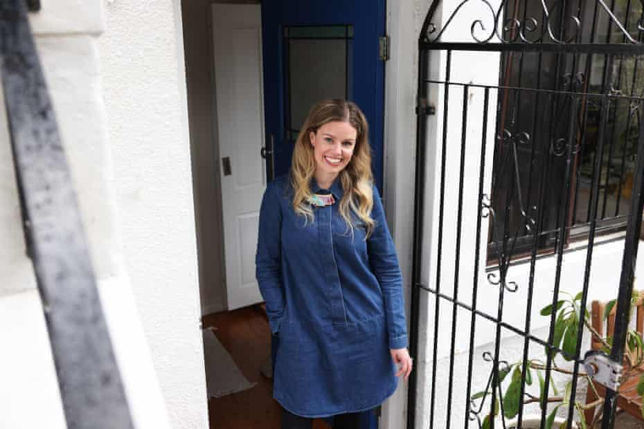 Victoria McCanley at the Bondi apartment in Sydney NSW.