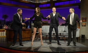 (From left) James Corden, Katie Holmes, Ryan Reynolds and Judd Apatow.