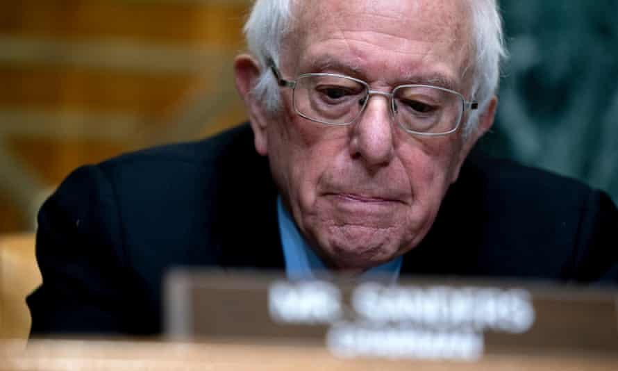 Bernie Sanders speaks on Capitol Hill Thursday in Washington.