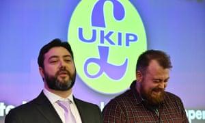Ukip MEP candidates Carl Benjamin and Mark Meechan.