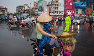 Hanoi's streets are swamped by motorbikes