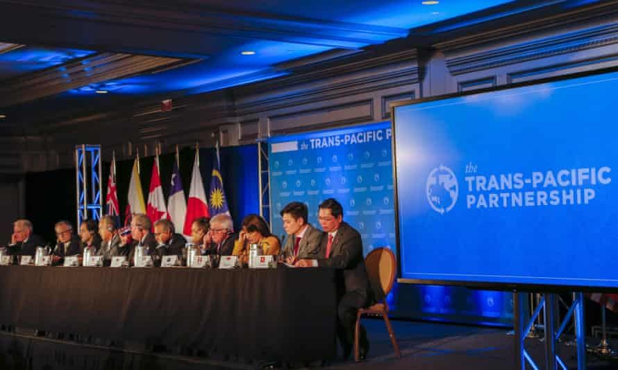 Trade ministers from the 12 TPP member countries in Atlanta, Georgia, where they reached agreement on the deal last month after secret negotiations.