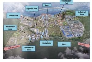 The masterplan for Bagamoyo.