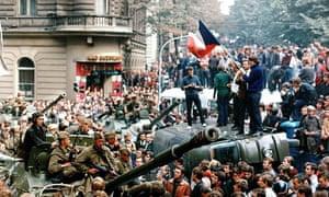 Soviet tanks in Prague in 1968