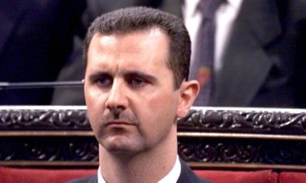 Syria's president Bashar al-Assad.