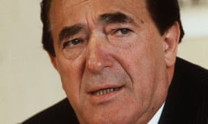 Tycoon Robert Maxwell, who was facing mounting pressure over the financial position of his companies.