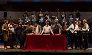 Roderick Williams as Christ, centre, performs The Last Supper with the BBCSSO.