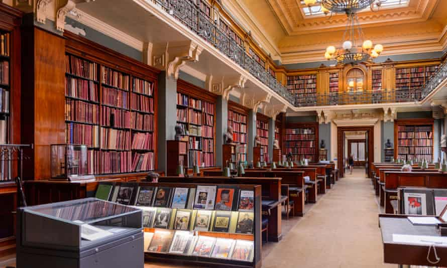 Interior of the V&A's National Art Library