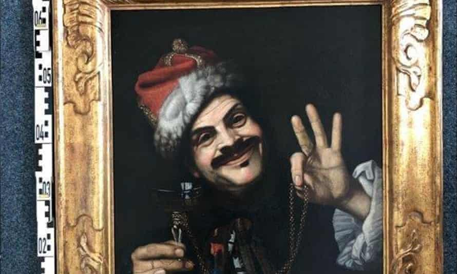 A self-portrait by the Italian artist Pietro Bellotti was one of the 17th century paintings found in a skip in Germany.