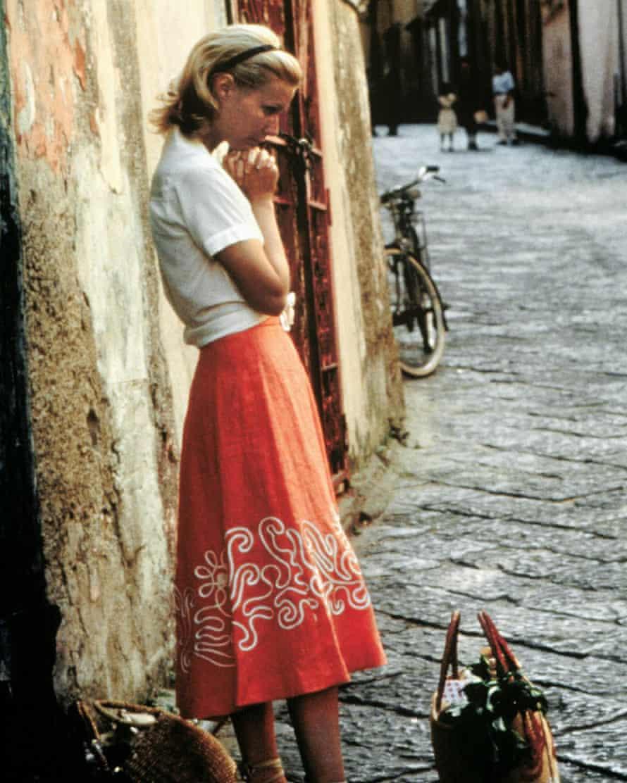 Gwyneth Paltrow in holiday wear in The Talented Mr Ripley.