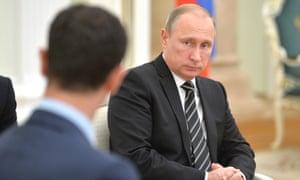 Vladimir Putin with Syrian President Bashar al-Assad  in October 2015