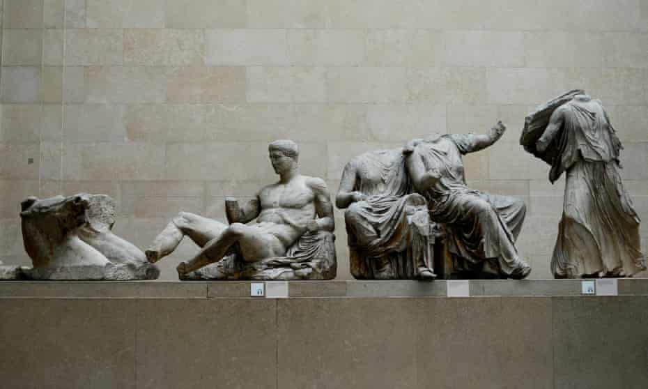 The Parthenon marbles on display at the British Museum in London.