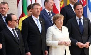 Hollande, Iohannis, Merkel, Rutte