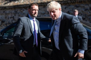London, England: The Conservative leadership candidate Boris Johnson arrives in Westminster