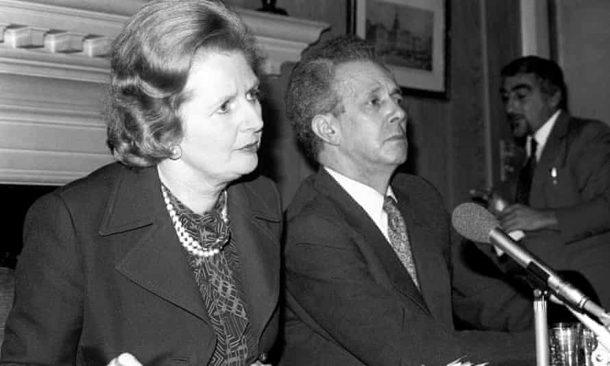 Thatcher and industry secretary Sir Keith Joseph in 1981
