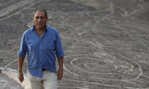 Johny Isla, chief archaeologist for the Nazca and Palpa Lines for Peru's ministry of culture.