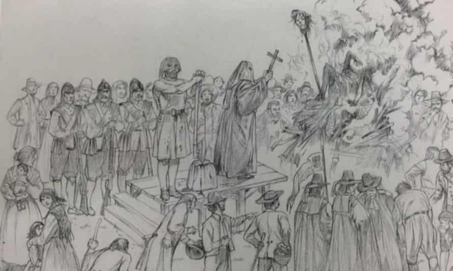 Sketch of the Toldini execution by Aldo Ripamonti from the book I Brentonicani by Franco Ottaviani