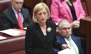 Labor Senator Katy Gallagher asks the Senate to refer her to the high court.