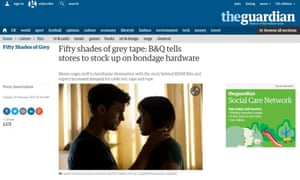 Guardian web page of B&Q story